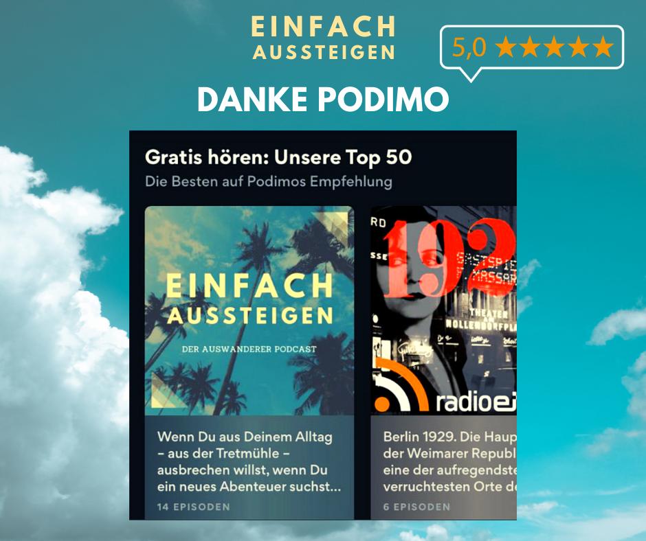 Podimo empfiehlt EINFACH AUSSTEIGEN den Auswanderer Podcast mit Nicolas Kreutter