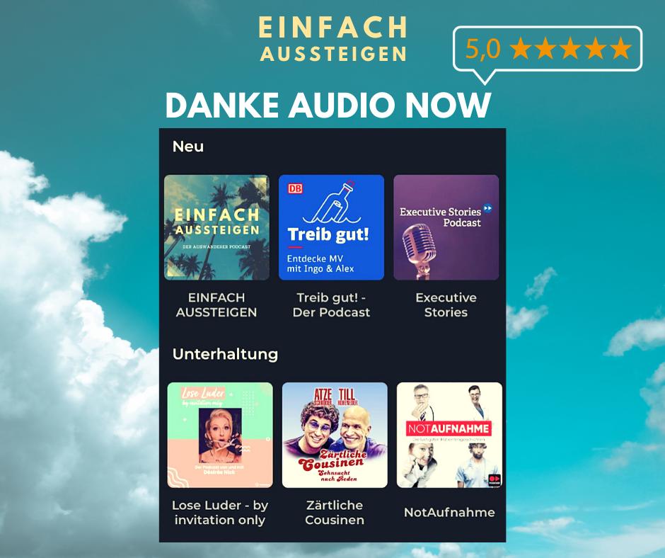 Audio Now empfiehlt EINFACH AUSSTEIGEN den Auswanderer Podcast mit Nicolas Kreutter