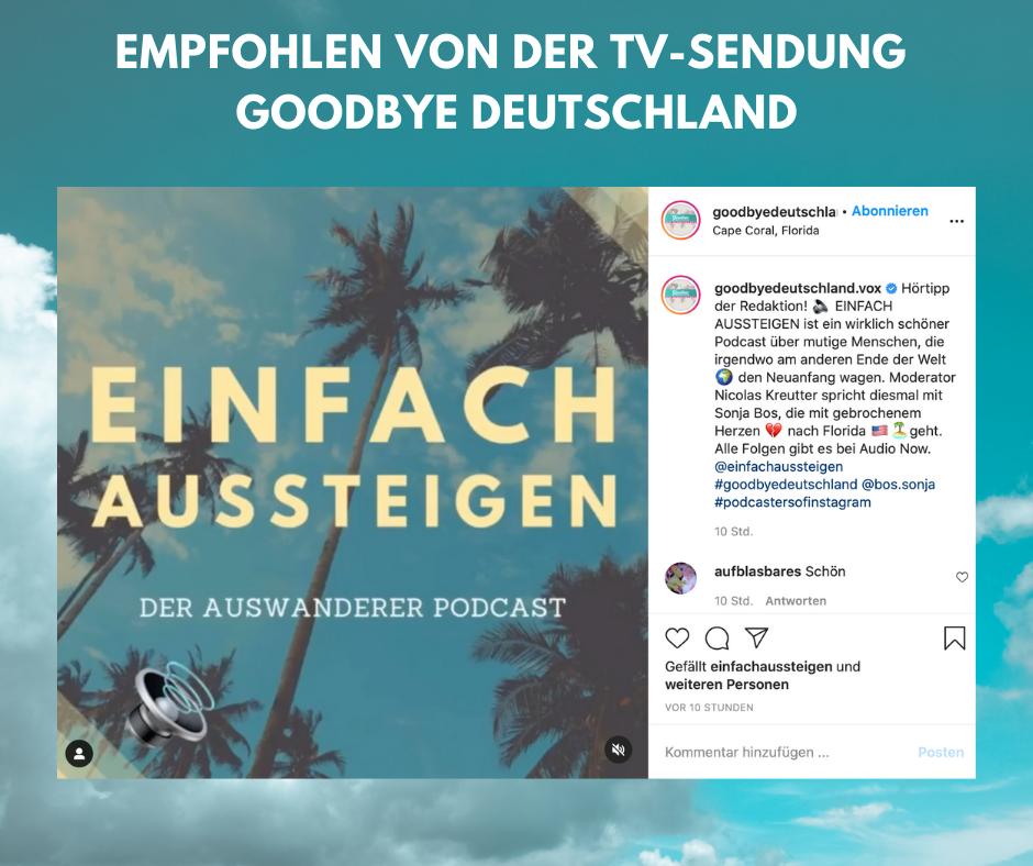 VOX Goodbye Deutschland empfiehlt EINFACH AUSSTEIGEN